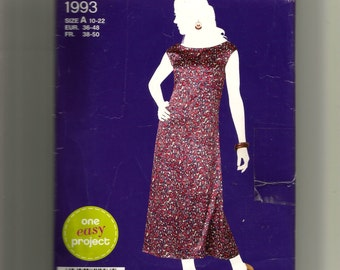 Simplicity  Misses' Pullover Dress Pattern 1993