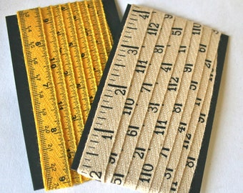 Printed Twill Tape - Measuring Tape and Yardstick for Bookbinding, Gift Wrap or Sewing