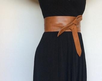 Wide Belt, Wrap Obi Belt, Fashion Belt, Women Belts, Tie Belts, Sash Belt, Stylish Belt, Obi Belt, Brown Leather Belt, Leather Obi Belt