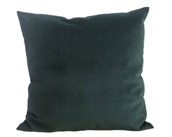 Deep green pillow-cover, microsuede, 50x50 cm/ 19,7x19,7 inch, for decorative pillow