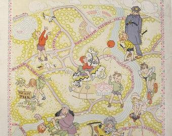1930 Original American Magazine Cover Woman's Home Companion, Children in the Park