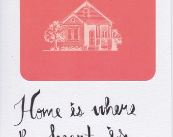 """CARD """"Home is where the heart is"""""""