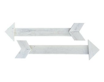 Decorative Wood Arrows 31 Inch (Set of 2)  - Whitewash