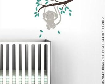 Monkey Branch I Wall Decal by LittleLion Studio