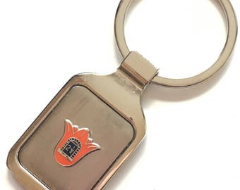 Personalised Orange Lodge Order Lilly 2.5 Crested Key Ring + Pouch (K094)