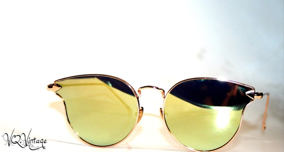 Gold Cateye Sunglasses