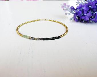 Bracelet tourmaline, watermelon tourmaline, jewelry semi-precious stones