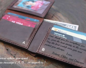 Men's Leather Wallet / Personalized Leather Wallet / Handmade Leather Wallet /Perfect gift for him / VD 0196