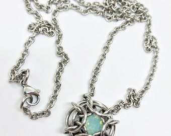 Phaedra Chainmail Necklace with Swarovski Crystal