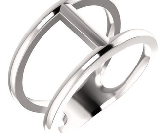 14kt White Gold Negative Space Ring