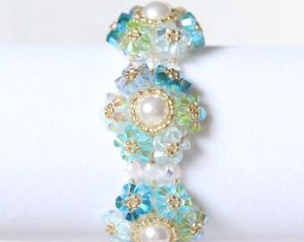 Blues Overload Crystal Bracelet