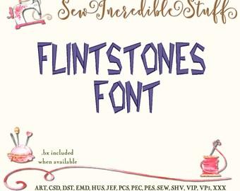 Flintstones Machine Embroidery Font