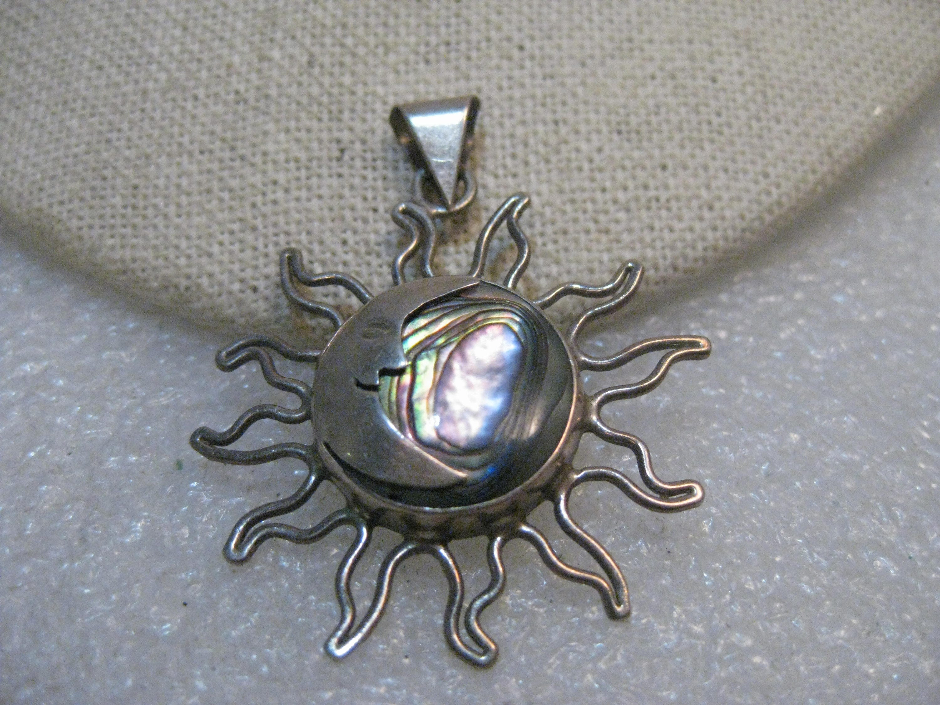 original planet sun jewelry wiccan moon necklace pagan and face pendant product