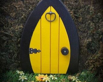 Gnome doors, Fairy Doors, Faerie Doors, Elf Doors,  9 inch - colored.