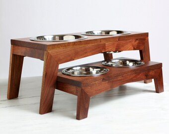 Modern dog or cat feeder / food stand / bowl