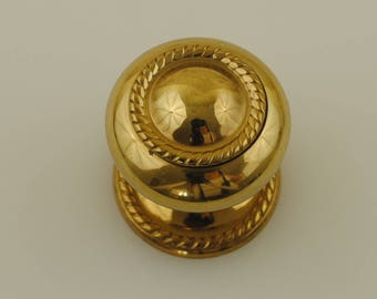 Solid Brass Drawer Pull with Backplate 1 Piece