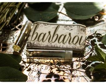 barbaroi - artisan perfume oil mini sampler - 2 vials - primary notes: frankincense and sandalwood