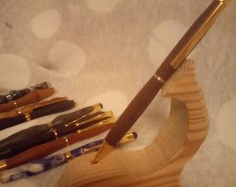 Walnut pen//hand turned pen//slimline pen//stylus pen