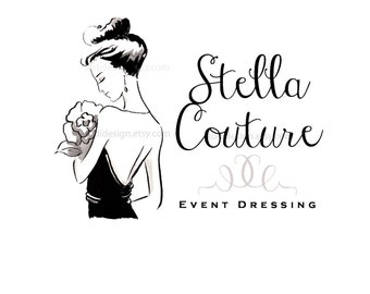 Stella Couture OOAK Character Illustrated Premade Logo design-Will not be resold- Fashion Boutique- Event Dressing