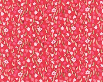 Aria Abloom in Rose, Kate Spain, 100% Cotton, Moda Fabrics, 27236 15
