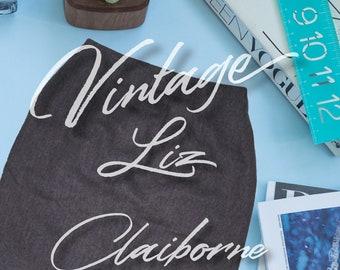 Vintage 80's Liz Claiborne gray pencil skirt 8