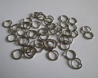 Set of 50 6mm silver color jump rings
