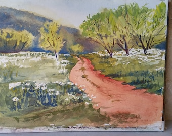Texas Hill Country, Original Watercolor Painting