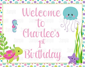 Printable Under The Sea Welcome Sign