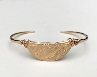 Horizon bronzen Manchet armband