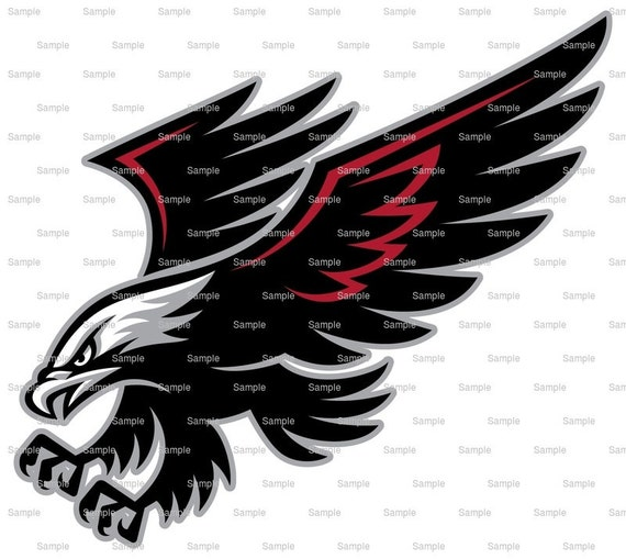 Falcons / Hawks Mascot Birthday - Edible Cake and Cupcake Topper For Birthday's and Parties! - D932