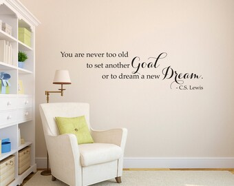 C.S. Lewis Quote Wall Decal - Dream a new Dream decal - Wall Decal