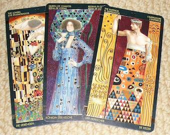 Lady Aquamarine: 10-card tarot reading- Klimt deck