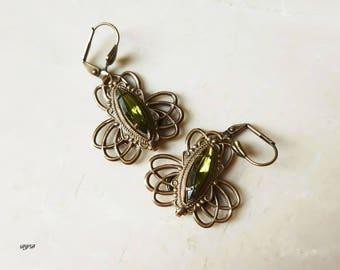 Earrings - Olive Dangle