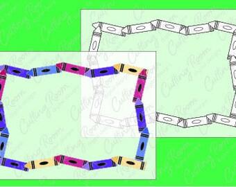 Crayon Scrapbook Photo Frame Embellishment Digital Download