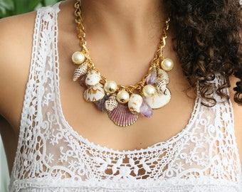 Shells Necklace - Amethyst