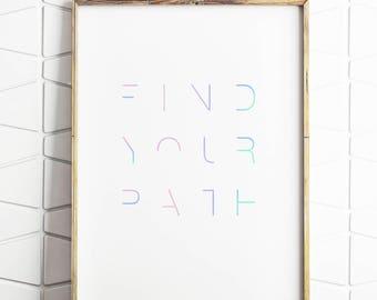 word play, word art, digital words, wall art decor, modern wall print, printable decor