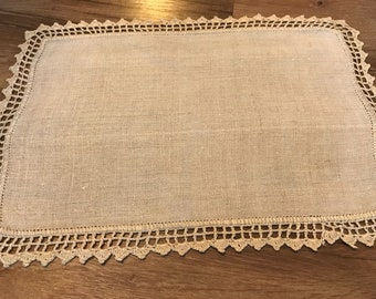 Linen and lace doily