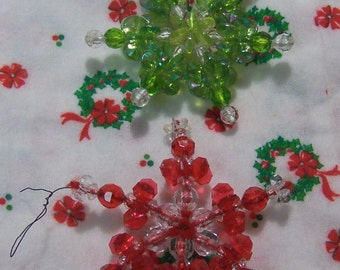 lovely beaded snowflake ornaments