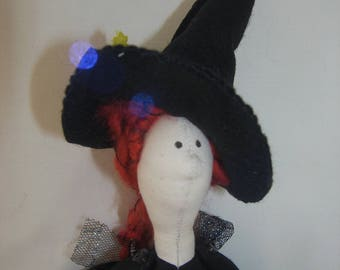 Imelda, cloth doll witch