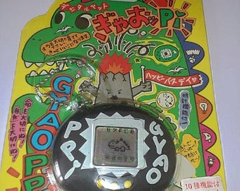 Original Gyaoppi Dinosaur Tamagotchi Virtual Pet Black In Box *Used*