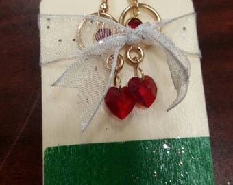 Red Swarovski Bullseye Drop Earrings