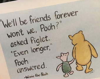 Classic pooh winnie the pooh greeting cards thinking of you thinking of you best friends classic winnie the pooh greeting card friends friendship bff sorority sister saying goodbye miss you m4hsunfo