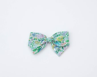 The Piper, Hand Tied Fabric Bows, Baby Girl, Toddler, Girls Fabric Bow Headband or Hair Clip