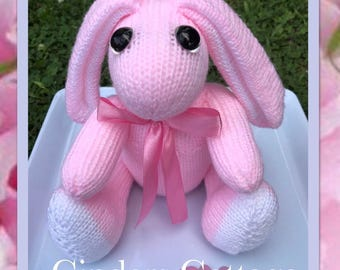 Bunny Rabbit Hand Knitted