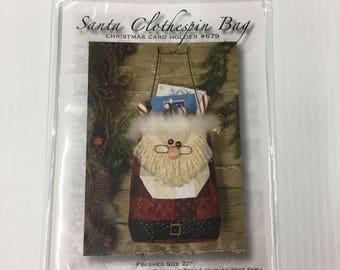 Happy Hollow Santa Clothespin Bag #679