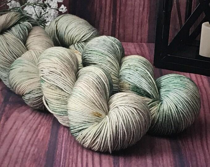 Hand Dyed Yarn, Sock Yarn, Indie Dyed Yarn, Merino Wool Yarn - Outlander Inspired Turtle Soup on Simple Sock