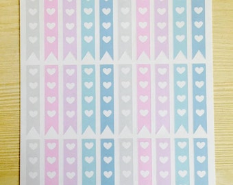 Heart Checklist Stickers for Happy Planner, EC, Filofax, Kikki.K, Webster's pages and more