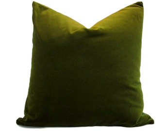 Kravet Pillow Cover Green Velvet