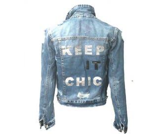 Keep It Chic Jean Denim Jacket - Hipchik