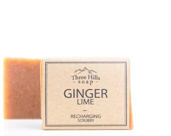 Ginger Soap, Lime Soap, Ginger Lime Soap, Natural Soap, Vegan Soap, Handmade Soap, Scrubbing Soap, Soap, Recharging, Palm Free Soap